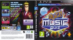 Buzz: The Ultimate Music Quiz PS3 game dvd cover